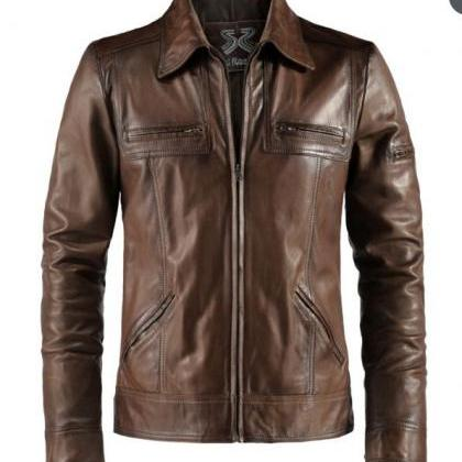 Mens Biker Vintage Motorcycle Distr..