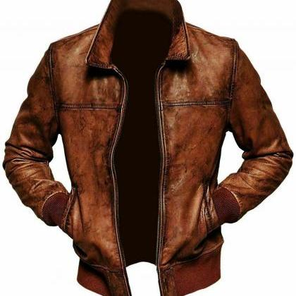 Mens Biker Motorcycle Vintage Distr..
