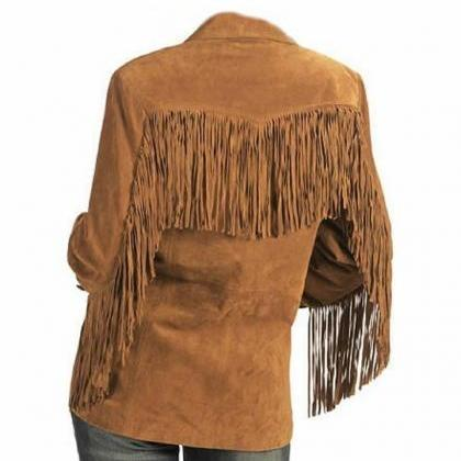 Woman Brown Western Wear Cow Lady S..