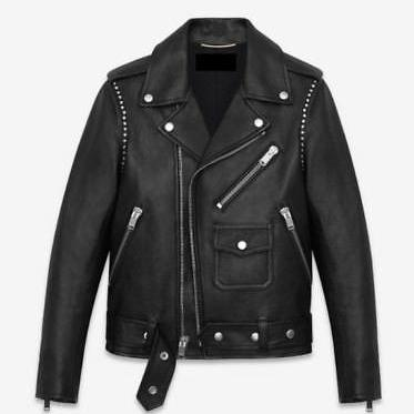 New Men's Black Sheep Leather Studd..