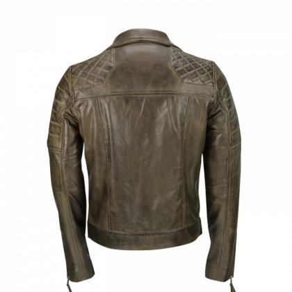 Men,s Brown Sheep Leather Vintage S..