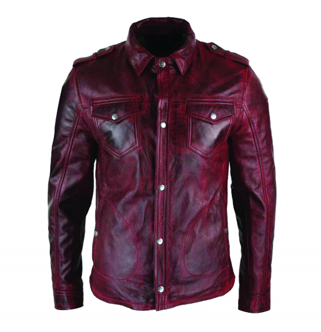 Mens Hand Made Stylish-Red-Timber-Washed-Slim-Fit-Shirt-Jackets (1)