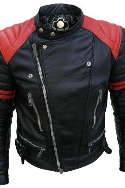 Brando_Black_Red_Padded_Power_Shoulders_Motorcycle_Biker_Genuine_Leather_Jacket 4