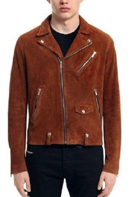 Men,s Fashion Tan Brown Leather Jacket Men,s Fashion Leather Jacket Biker Jacket