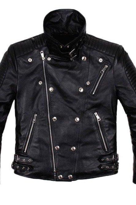 Mens Biker Leather Jacket, Men Fashion Black Motorcycle Jacket, New Jackets