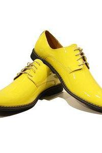 New Handmade Yellow Leather Lace Up Shoes For Men's